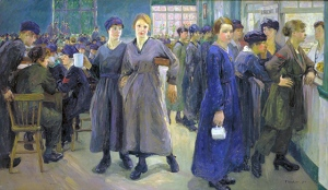 Flora Lion, Women's Canteen at Phoenix Works, 1918